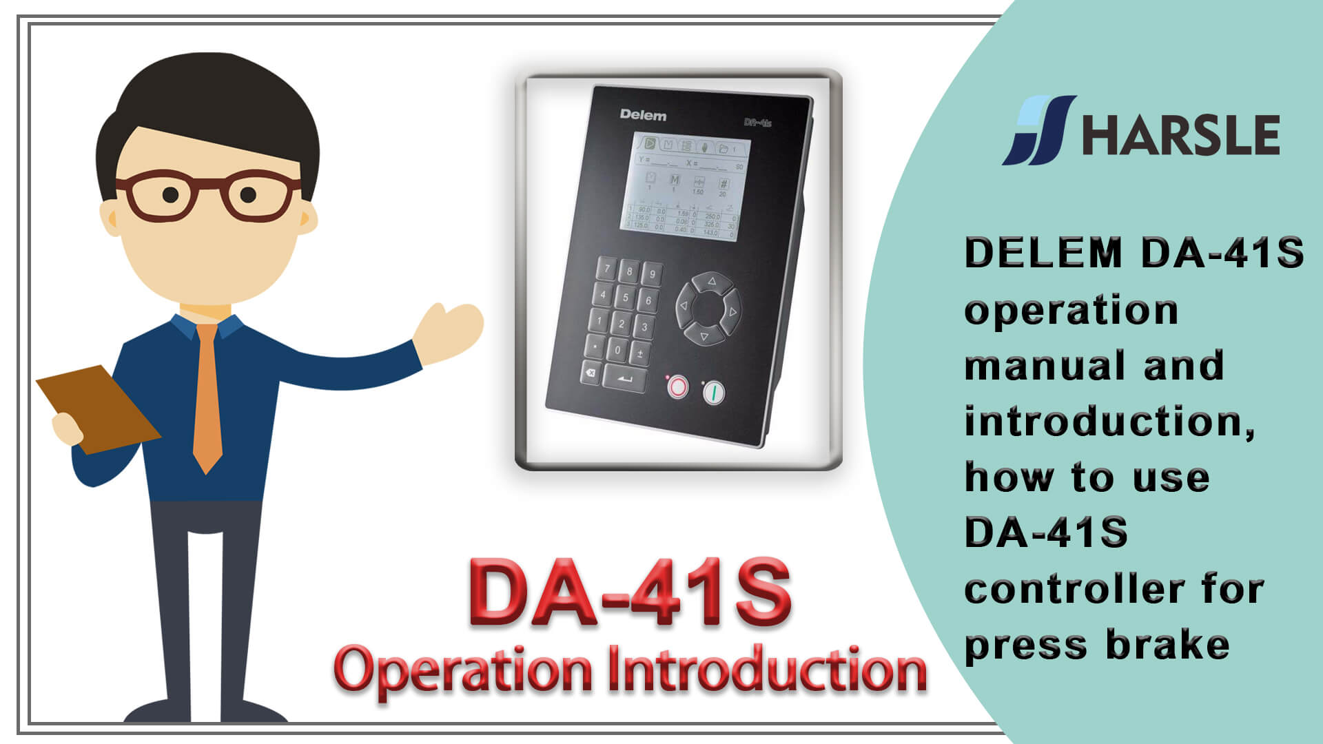 DELEM DA-41S operation manual and introduction, how to use DA-41S controller for press brake
