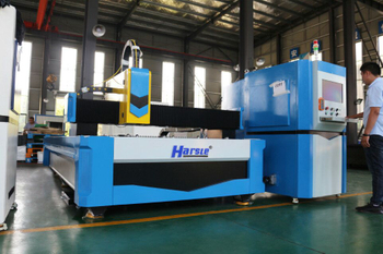 HARSLE 500W CNC Fiber Laser Cutting Machine Video