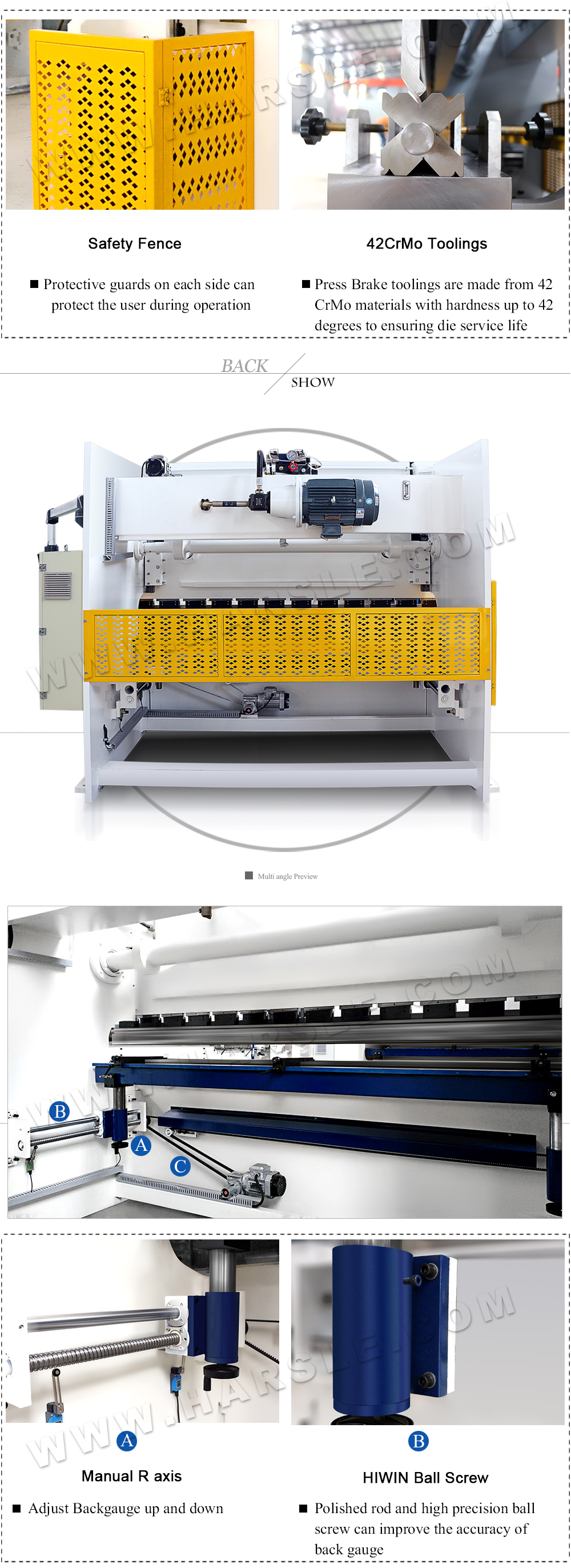 WC67K-400T/4000 press brake machine with E200P, sheet metal bending