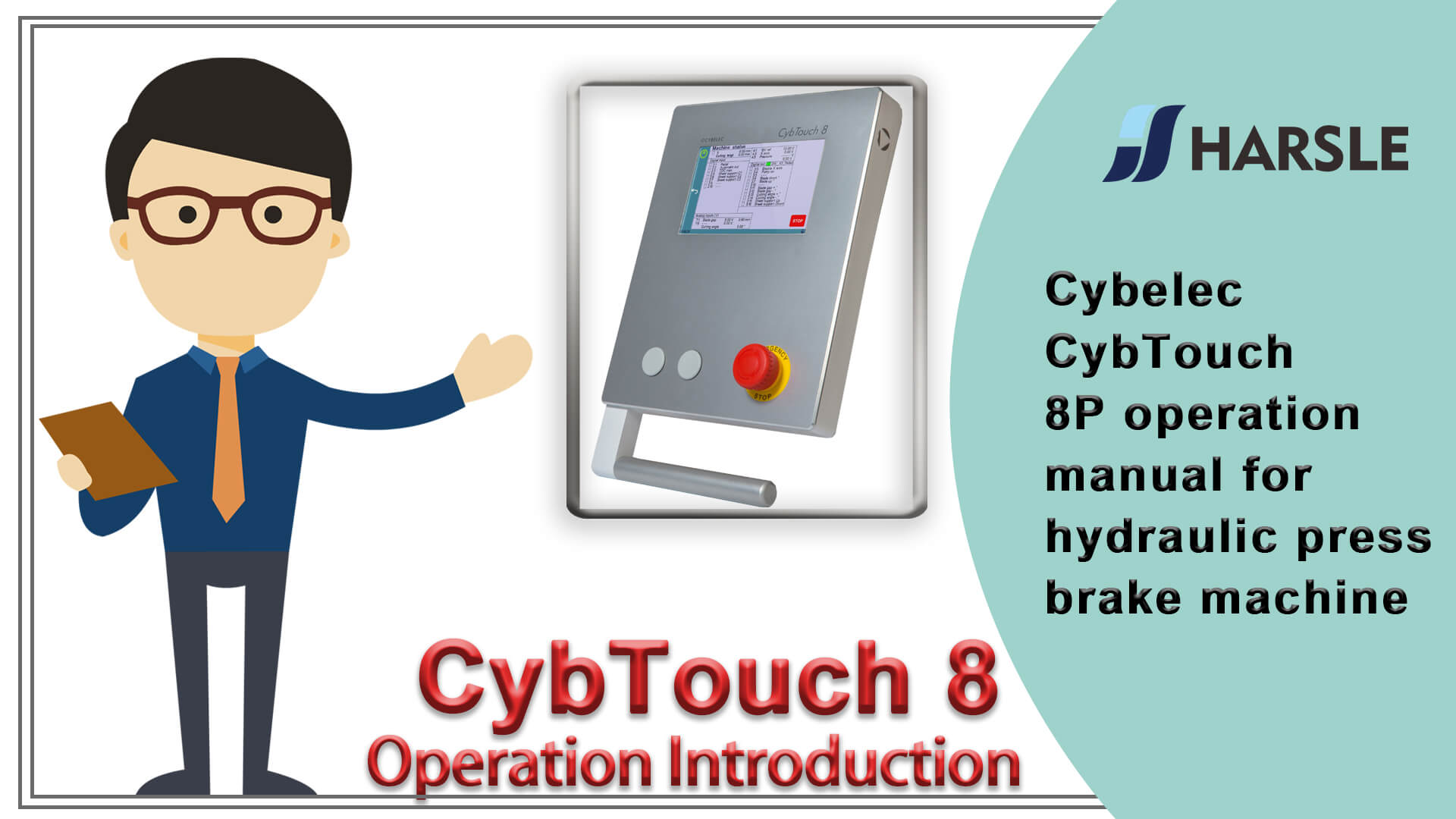 Cybelec CybTouch 8P operation manual for hydraulic press brake machine